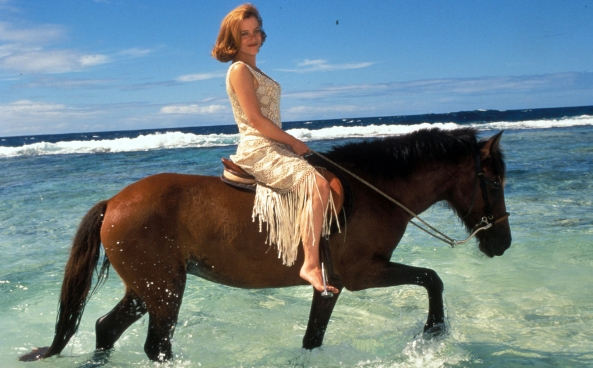Actress Gillian Anderson Goes Exotic